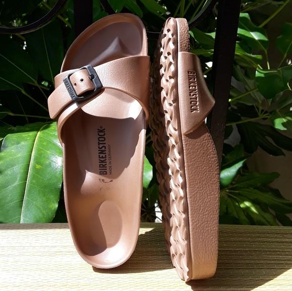 82324a96eca Birkenstock Shoes - Birkenstock Madrid Copper EVA Waterproof Sandals